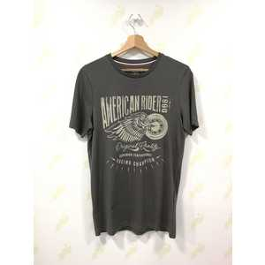 Maglietta Jack & Jones grigio asfalto New Biker Pktauk uomo art. 12153639 Asfalto