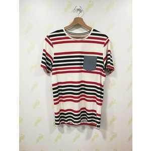 Maglietta Jack & Jones bianco strisce rosso blu Twin Stripe art. 12153723 American