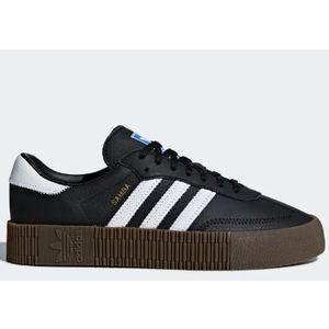 Sneakers Adidas Sambarose W nero bianco Platform 3cm donna art. B28156