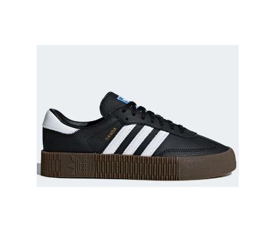 Adidas Sambarose W sneakers colore nero bianco platform in gomma 3 cm scarpe donna art. B28156