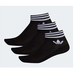 Calzini Adidas nero Trefoil con logo e strisce lunghezza caviglia 3 paia art. EE1151