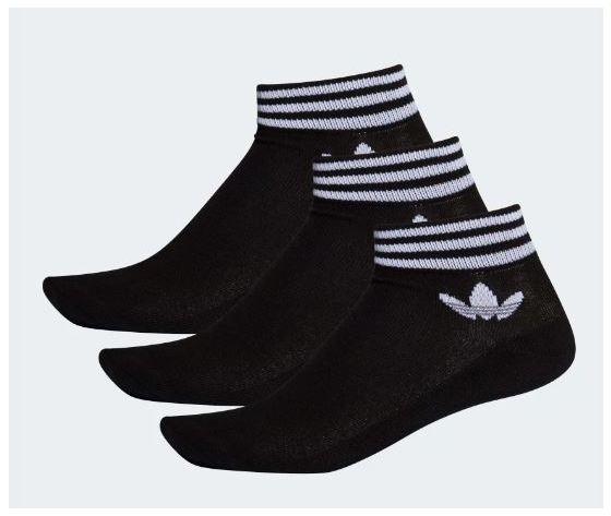 Ee1151 adidas calzini trefoil nero 3 paia