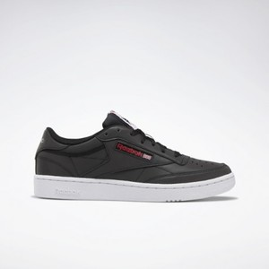 Sneakers Reebok Club C85 antracite logo rosso art. DV7241
