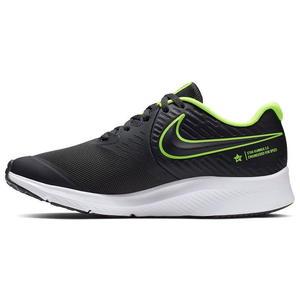 Scarpe sportive Nike Star Runner 2 (GS) nero verde fluo unisex art. AQ3542 004