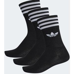 Calze Adidas nero trifoglio cotone 3 paia uomo art. S21490