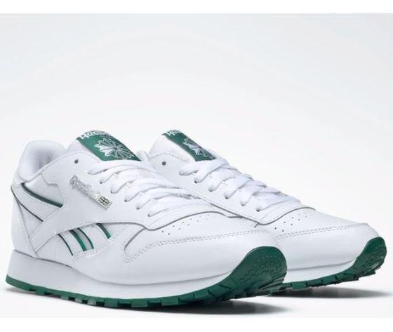 Dv8631 reebok classic leather mu bianco verde 2