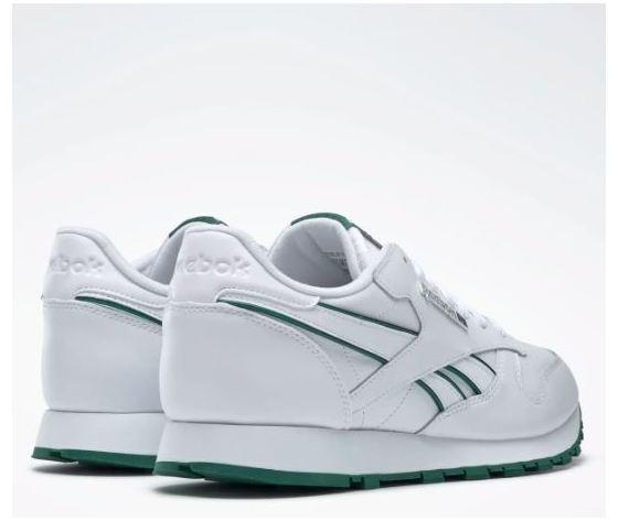 Dv8631 reebok classic leather mu bianco verde 3