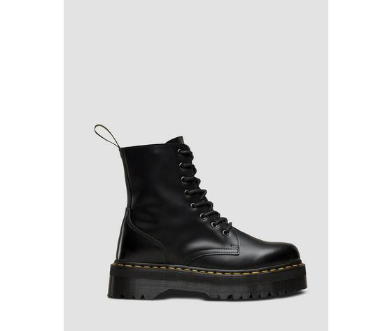 Dr Martens Anfibio Zeppa JADON Polished Smooth Nero Donna 15265001 Originale