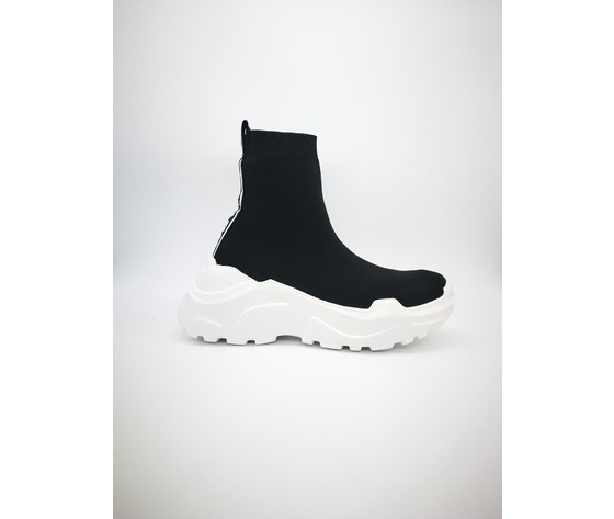 Py20184 n sneakers pyrex slip on nero bianco
