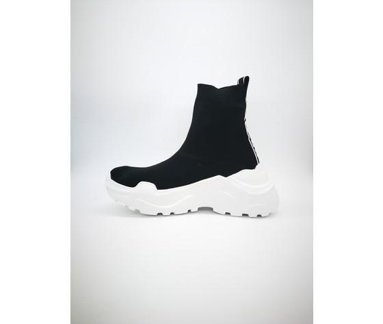 Py20184 n sneakers pyrex slip on nero bianco 3