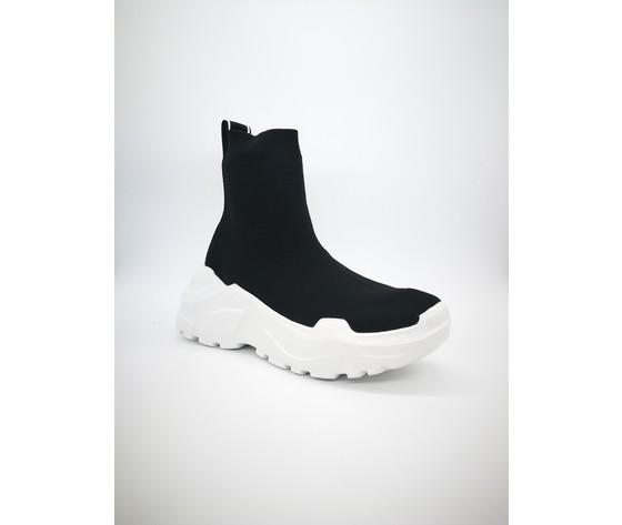 Py20184 n sneakers pyrex slip on nero bianco 4