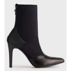 Tronchetto NeroGiardini nero con gambale tacco 10 cm tempo libero donna art. A909372DE 100