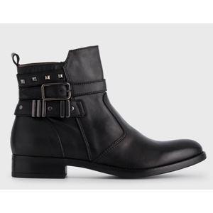 Tronchetto NeroGiardini nero pelle cinturini sulla caviglia fibbia tempo libero donna art. A908755D 100