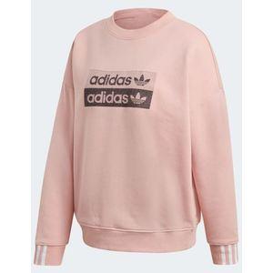 Felpa Adidas rosa logo nero Sweatshirt abbigliamento donna art. EC0746