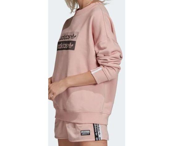 Ec0746 adidas felpa rosa sweatshirt 5