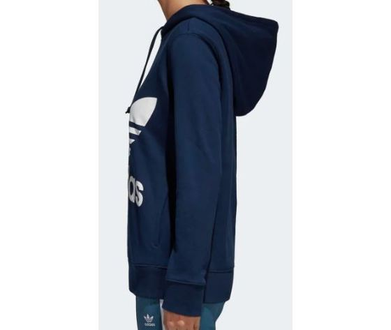 Ce2410 adidas felpa hoodie trefoil blu 5