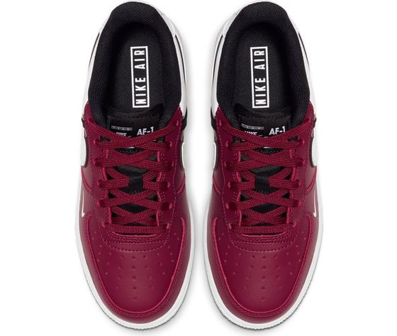 Nike Air Force 1 Lv8 2 colore bordeaux sneakers ragazzi basket ...