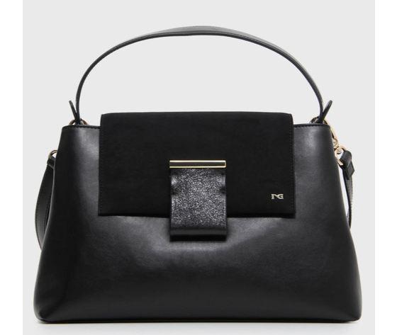 A946007d 100 nerogiardini borsa donna nero velluto pelle