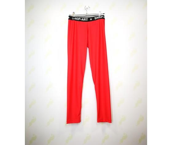 60317r shop art leggins rosso donna