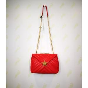 Borsa Shop Art rosso chiusura bottone stella dorata donna tracolla art. 20601 003