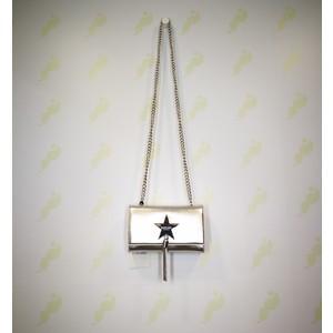 Pochette Shop Art argento chiusura bottone stella ciondolo nappa tracolla donna art. 20609 94