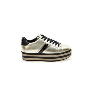 Sneakers ApePazza oro nero Iris zeppa tempo libero donna art. 9FICP01 METAL