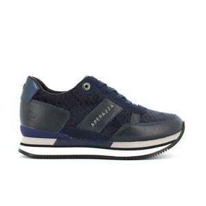 Scarpe Donna Blu ApePazza Velluto Rossella Sneakers Tempo Libero art. 9FRSD34 Blu