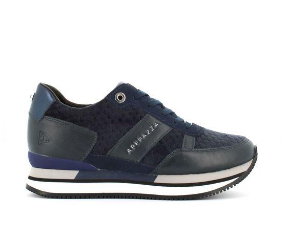 9frsd34 blu sneakers ape pazza donna blu velluto