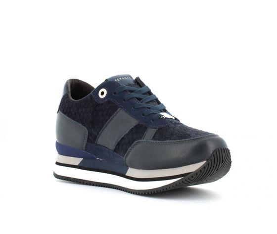 9frsd34 blu sneakers ape pazza donna blu velluto 2
