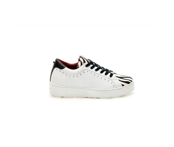Sneakers ApePazza bianco nero zebra Seline tempo zeppa libero donna art. 9FSLW01 Zebra