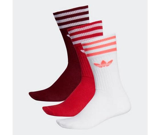 Ed9360 calzini adidas 3 paia rosso bianco bordeaux