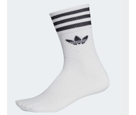 Dx9091 adidas calzini bianco 3 paia mid cut