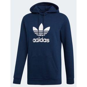 Felpa Adidas blu con cappuccio Hoodie Trefoil uomo art. EJ9682