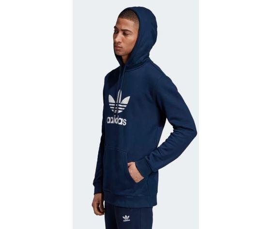 Ej9682 adidas hoodie trefoil felpa cappuccio uomo blu 5