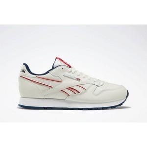 Sneakers Reebok Leather Mu uomo beige rosso uomo tempo libero art. DV8628