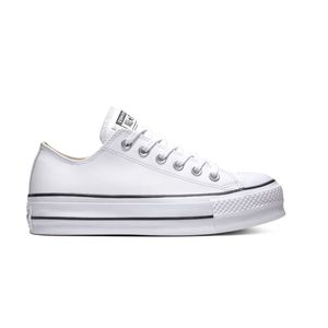 Scarpe Converse Chuck Taylor All Star Lift Clean Leather Low Top bianco donna art. 564680C