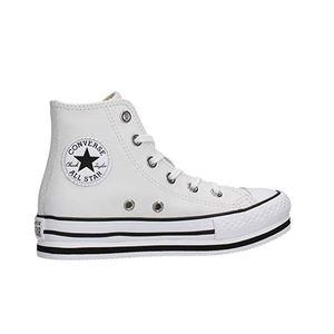 Converse Pelle Platform bianco Bambina Chuck Taylor All Star Eva High bianco art. 666392C