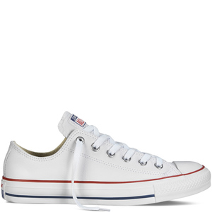 Converse Chuck Taylor All Star bianco bassa pelle unisex art. 132173C