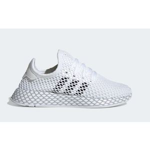 Scarpe Adidas Deerupt Runner J bianco nero ragazzi tempo libero art. F34295