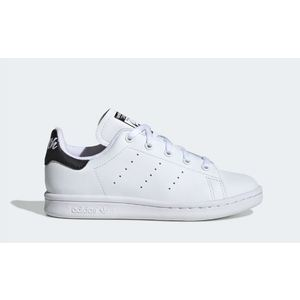 Scarpe Adidas Stan Smith bianco tallone nero bambini art. EE7578