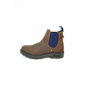 Stivaletto con elastico Wrangler marrone blu Buddy slip on uomo tempo libero art. WM92040A 438