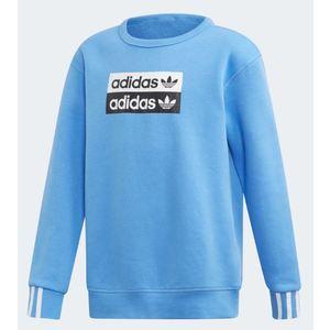 Felpa Adidas celeste ragazzi girocollo Crewneck art. ED7882