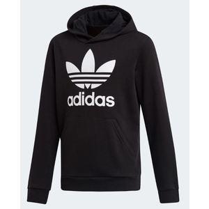 Felpa Adidas con cappuccio nero ragazzi Hoodie Trefoil art. DV2870