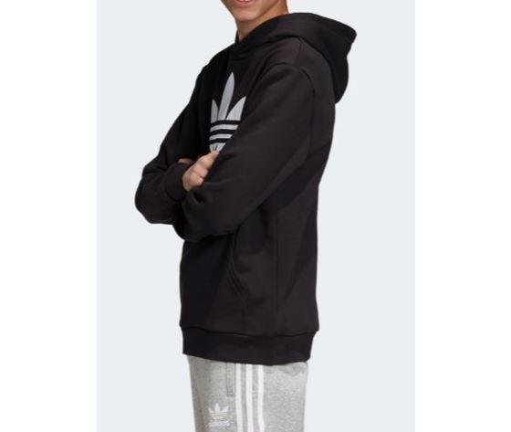 Dv2870 adidas felpa cappuccio nero ragazzo 4