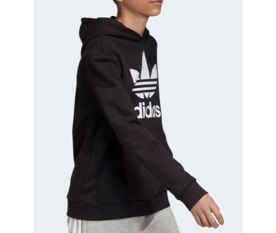 Dv2870 adidas felpa cappuccio nero ragazzo 6