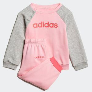 Tuta Adidas rosa grigio bambino Linear Fleece Jogger art. EI7964