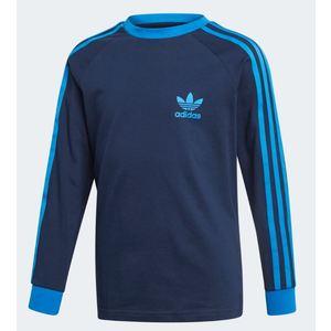 Maglia Adidas blu strisce celeste ragazzo 3 Stripes art.EJ9380