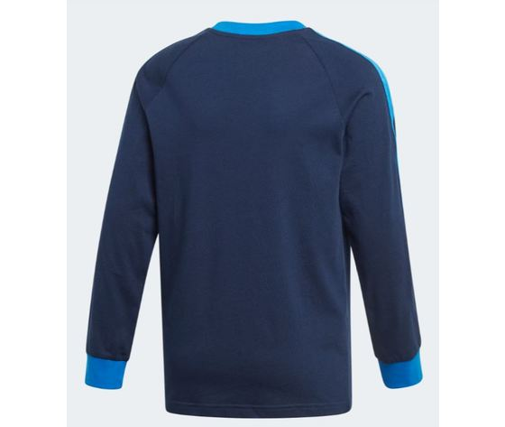 Ej9380 adidas maglia blu 3 stripes ragazzo 2