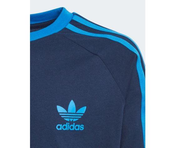 Ej9380 adidas maglia blu 3 stripes ragazzo 3