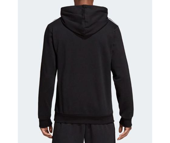 Du0498 felpa adidas nera con cappuccio 5